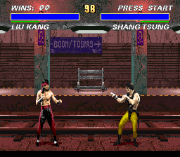 Mortal Kombat 3 (USA) (Beta) In game screenshot