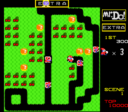 Mr. Do! (Japan) In game screenshot
