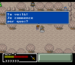 Mystic Quest Legend (France) In game screenshot