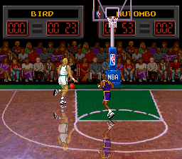 NBA All-Star Challenge (Japan) In game screenshot