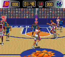 NBA Give 'n Go (Europe) In game screenshot
