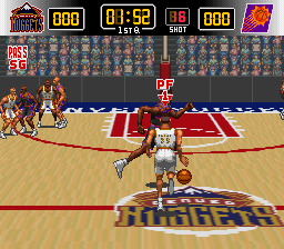 NBA Give 'n Go (USA) In game screenshot