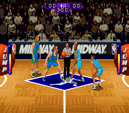 NBA Hang Time (USA) In game screenshot