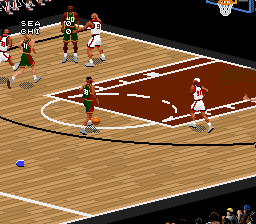 NBA Live '97 (Europe) In game screenshot