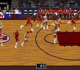 NBA Pro Basketball - Bulls vs Blazers (Japan) In game screenshot