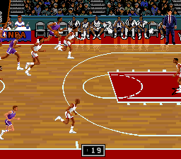 NBA Showdown (USA) (Beta) In game screenshot