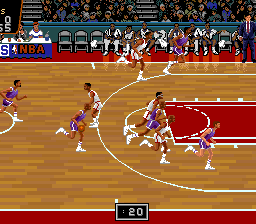 NBA Showdown (USA) In game screenshot