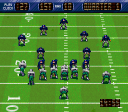 NFL Quarterback Club (Japan) In game screenshot