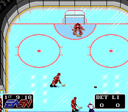 NHLPA Hockey '93 (Europe) In game screenshot