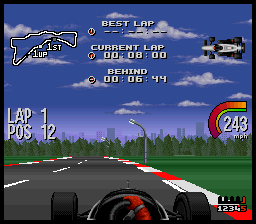 Newman-Haas IndyCar Racing featuring Nigel Mansell (Europe) In game screenshot