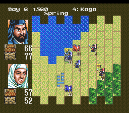 Nobunaga's Ambition (USA) In game screenshot
