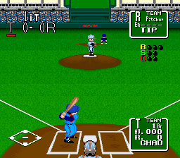 Nolan Ryan's Baseball (USA) In game screenshot