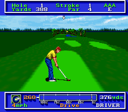 PGA Tour Golf (Europe) In game screenshot