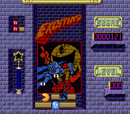 Pac-Attack (USA) In game screenshot