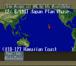 Pacific Theater of Operations II (USA) In game screenshot