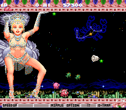 Parodius - Non-Sense Fantasy (Europe) In game screenshot