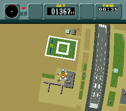 Pilotwings (USA) In game screenshot