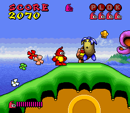 Plok! (Europe) In game screenshot