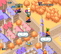 Pop'n TwinBee (Europe) In game screenshot