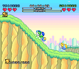 Pop'n TwinBee - Rainbow Bell Adventures (Europe) In game screenshot