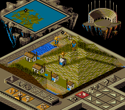 Populous II - Trials of the Olympian Gods (Germany) In game screenshot
