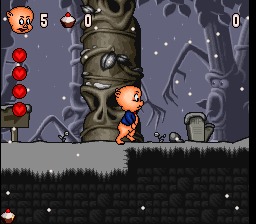 Porky Pig's Haunted Holiday (Europe) In game screenshot