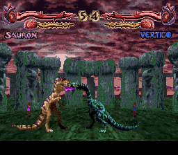 Primal Rage (USA) (Beta) In game screenshot
