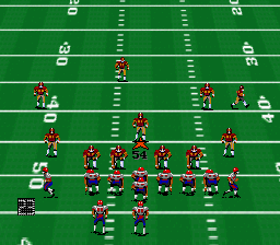 Pro Football '93 (Japan) In game screenshot