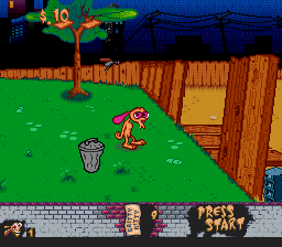 Ren & Stimpy Show, The - Time Warp (Europe) In game screenshot