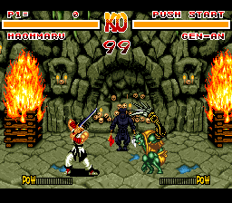 Samurai Shodown (Europe) In game screenshot