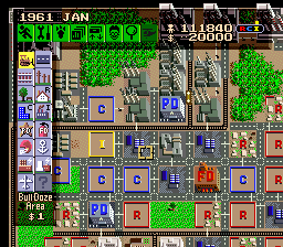 SimCity (USA) In game screenshot