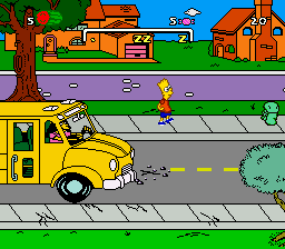 Simpsons, The - Bart's Nightmare (USA) In game screenshot
