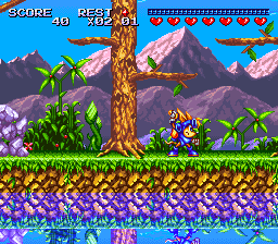Sparkster (Japan) In game screenshot