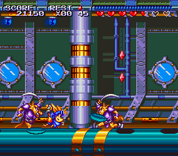 Sparkster (USA) In game screenshot