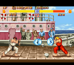 Street Fighter II - The World Warrior (Japan) In game screenshot