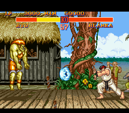 Street Fighter II - The World Warrior (USA) In game screenshot