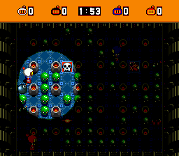 Super Bomberman (USA) In game screenshot