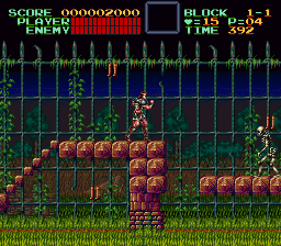 Super Castlevania IV (Europe) In game screenshot