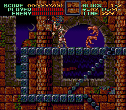 Super Castlevania IV (USA) In game screenshot