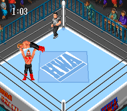 Super Fire Pro Wrestling (Japan) In game screenshot