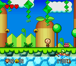 Super Genjin 2 (Japan) In game screenshot