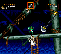 Super Ghouls'n Ghosts (USA) In game screenshot