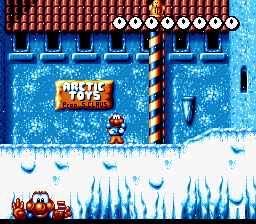 Super James Pond II (Europe) In game screenshot