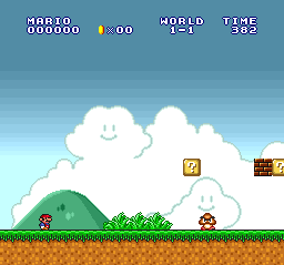 Super Mario All-Stars (Europe) In game screenshot