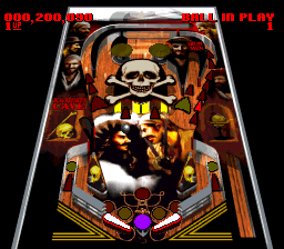 Super Pinball - Behind the Mask (Japan) (Beta) In game screenshot
