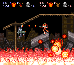 Super Probotector - Alien Rebels (Europe) In game screenshot