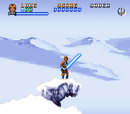Super Star Wars - The Empire Strikes Back (Europe) In game screenshot