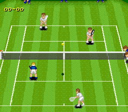 Super Tennis (USA) In game screenshot