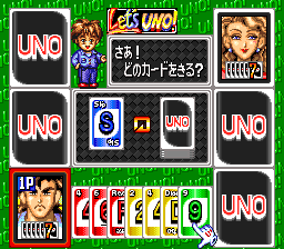 Super Uno (Japan) In game screenshot