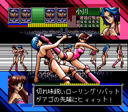 Super Wrestle Angels (Japan) In game screenshot